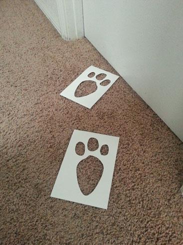 easter bunny tracks stencil sp stencils