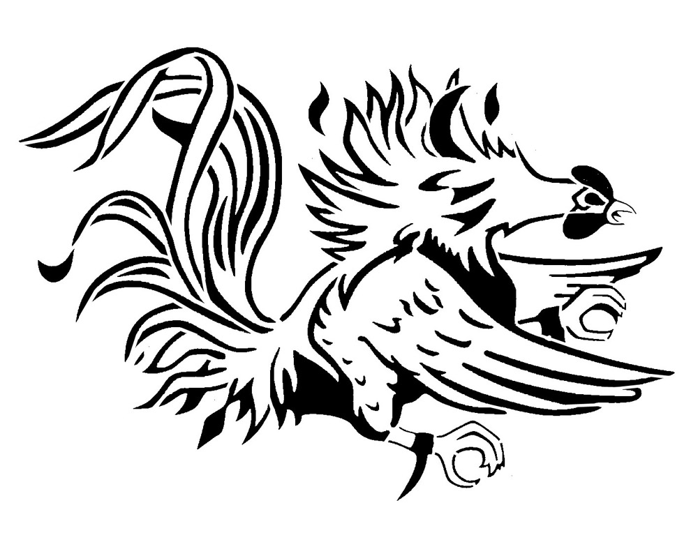 Gamecock Coloring Pages