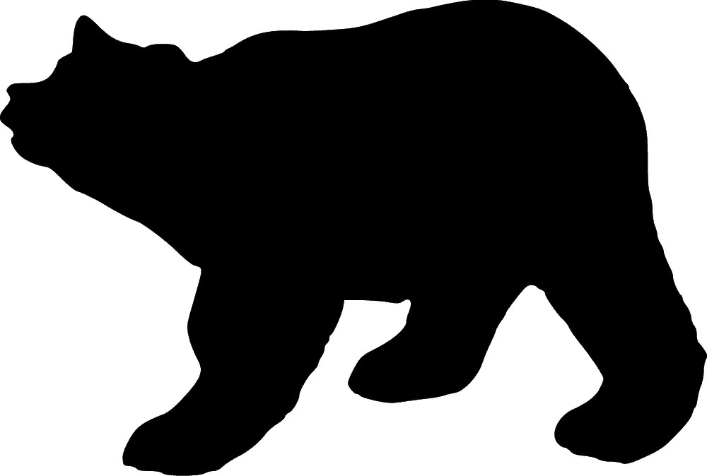 bear stencil   sp stencils